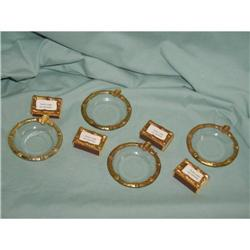 Gold Trim Matchbox Place Card Holder, Gold Trim #863962