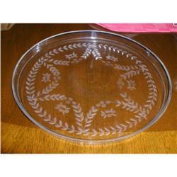 Crystal Cake Plate,Hand Cut&Blown #863966