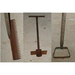 Antique Garden Tools,Rake,Hole Plug,English #863968