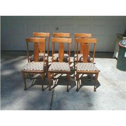 Set 6 Oak Dining Chairs #878546