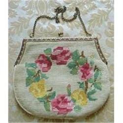 Lovely Needlework FLORAL BAG - PURSE  #878562