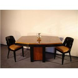 Dining  Table  Walnut  French  Art-deco #886293