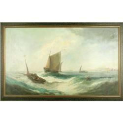 W.Byron Maritime painting ORIGINAL Framed #886296
