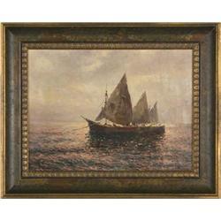 Capri by F.MARIS ORIGINAL oil painting framed #886297