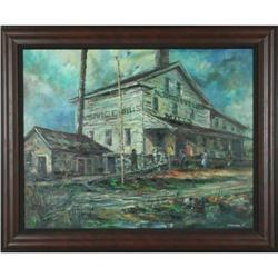 MacIsaac Northville Mill ORIGINAL oil painting #886299