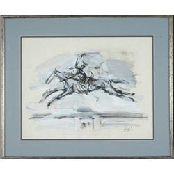 John Bageris-The Horse Abstract- Acrylic on #886300