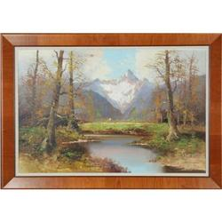 Mountain Pond - ORIGINAL Oil On Canvas by #886313