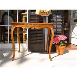 louis XV walnut side table #886315