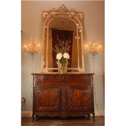 19th-Century French Hand-Carved Oak Buffet #886328