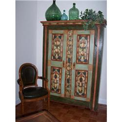 French Painted Armoire 18th C. #886340