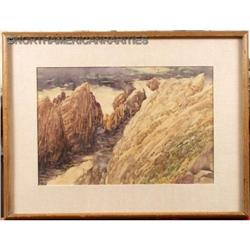 """Origi  Watercolor, """"Grand Canyon?"""" Arizona L/A #896413"""