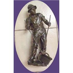 """The Railroad Worker,  Large 15"""" Metal Sculpture #896419"""