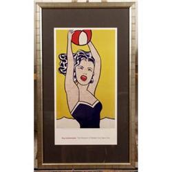Girl with Beach Ball, Pop Art Roy Lichtenstein #896420