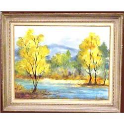 California Plein Air, Watercolor, D. Lindman #896421