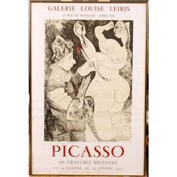 """Picasso 156 Gravures Recentes"" Mourlot Poster  #896424"