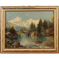 Framed  Yosemite Scene 1896 Print Thomas Moran #896427
