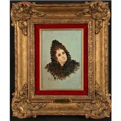 L. Herink ORIGINAL victorian portrait framed #896469