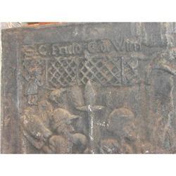16 century cast iron fireback #896483