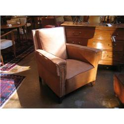 French Art Deco Period Leather Club Chair #896529