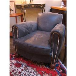 French Art Deco Leather Club Chair #896530