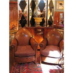 Pair of French Art Deco Period Club Chairs #896550