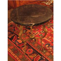 French Bronze and Marble Side Table #896552