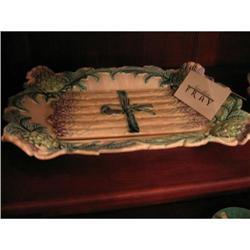 19th Century Sarreguemine Platter #896567