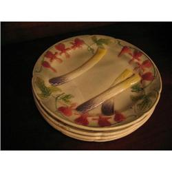 Set of Four 19th Century Sarreguemine Plates #896568