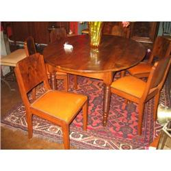 Set of Six French Art Deco Dining Chairs #896572