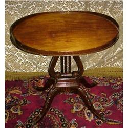 Early 1900's LYRE POST TEA TABLE #896603