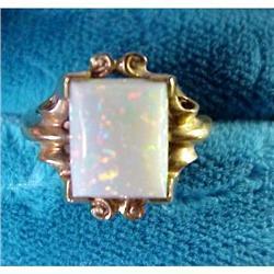 Lovely Gold OPAL Ring  #896609