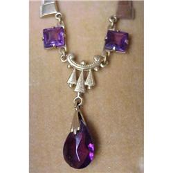 Lovely DECO Amethyst Necklace #896611