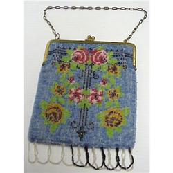 Early 1900's Floral BEADED PURSE #896612