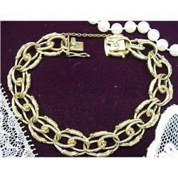 1940 Gold Link Ladies Bracelet  #896625