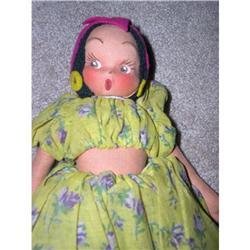 Cloth molded face Cuba doll #896636