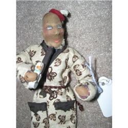 Cloth Black stockinette man smoker doll #896638