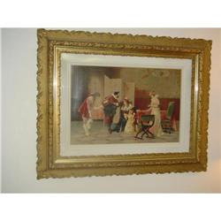 Framed color Lithograph #896644