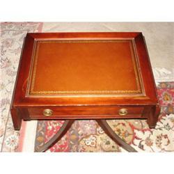 Drop leaf silver storage table #896648