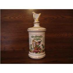 Glass  bottle-Irish decor-Irish Leprechaun  #896657
