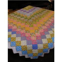 Antique Quilt--Colorful--Vintage--Excellent!!! #896665