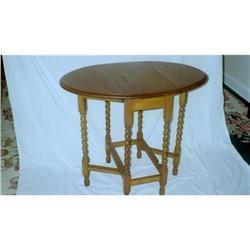 English Oak Oval Gateleg Table 19th Century #896676