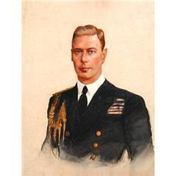 Portrait of George VI (1895-1952), English Sch #896688