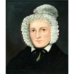 Portrait of a Lady in a Bonnet, American sch #896692