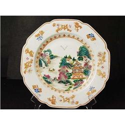 Chinese Export Plate. Famille Rose. 19th C #896696