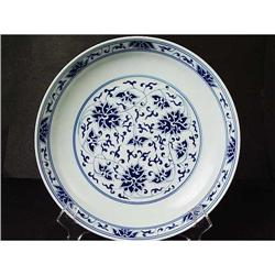 Chinese Marked Blue White Plate. Early 20th #896699