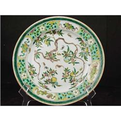 19th Century Chinese Famille Verte Plate. #896700