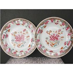 Antique Chinese Export Famille Rose Plate  #896708