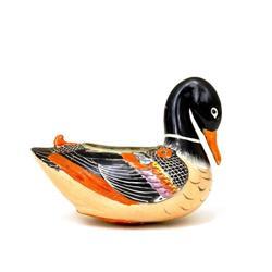 Old Japanese Kutani Duck Bird Shape Wall Vase #896714