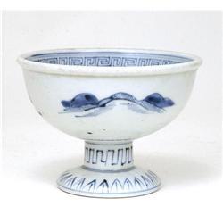 19C Japanese Blue & White Imari Sake Cup Washer #896720