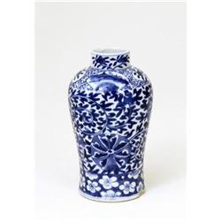Old Chinese Export Blue & White Vase  #896724